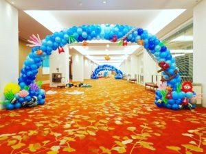 Ocean Theme Balloon Arch Deco Singapore