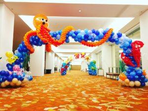 Octopus Balloon Arch Decoration