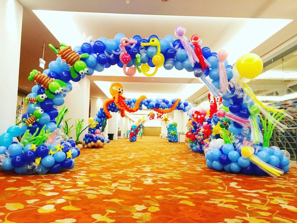 Underwater Balloon Arch Deco Singapore