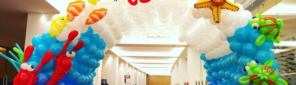 Underwater Balloon Tunnel Decoration