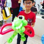 Balloon Flying Dino Sculpture
