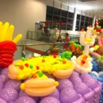 Balloon Food Pizza and fries Sculptures