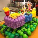 Balloon Food on Table Sculptures