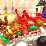 Balloon Kebak Satay mushroom and seafood Sculpture