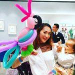 Balloon Pink Parrot Sculpture