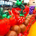 Balloon Strawberries Sculptures