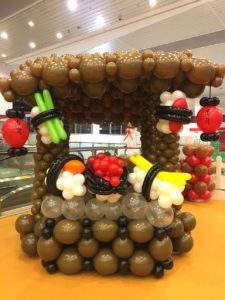Japanese Sushi Stall Balloon Decoration