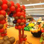 Large Balloon Decorations at Shopping Mall