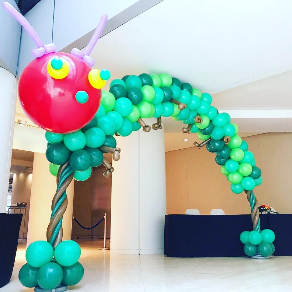Balloon Caterpillar Arch Decoration