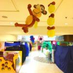 Balloon Monkey and Banana Sculptures