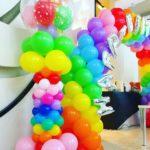 Rainbow Column Balloons