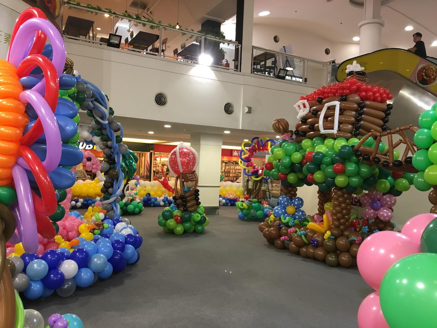 Shopping Mall Balloon Exhibition That Balloons