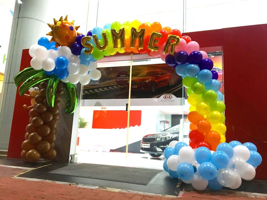 Summer balloon decorations that balloons for Arch decoration supplies