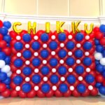 Balloon Backdrop with Customised Name