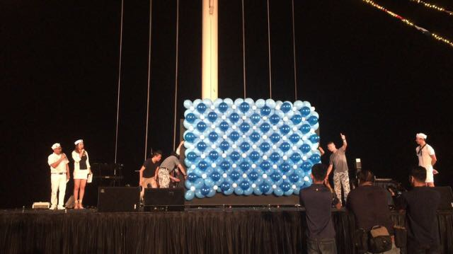 Balloon Wall for product launch