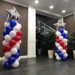 Balloon Pillars for Showroom