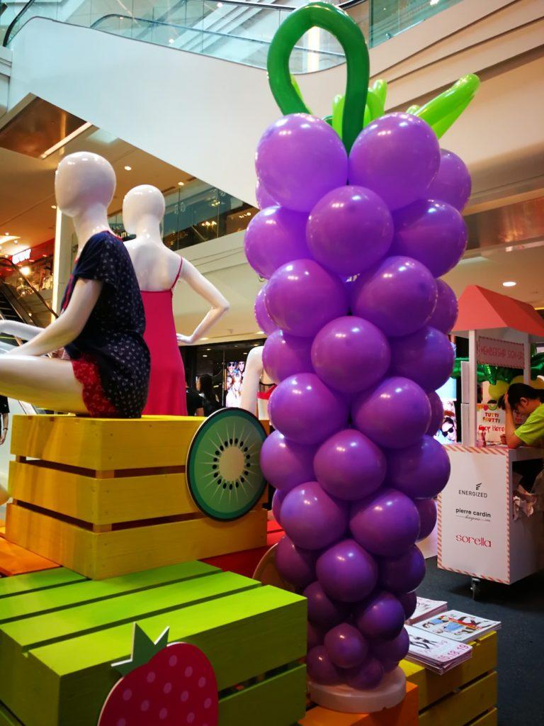 Large Balloon Grape Sculpture