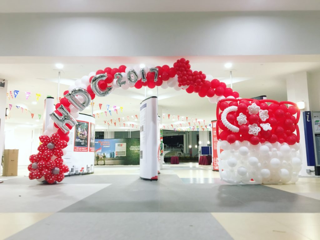 Singapore National Day Balloon Arch