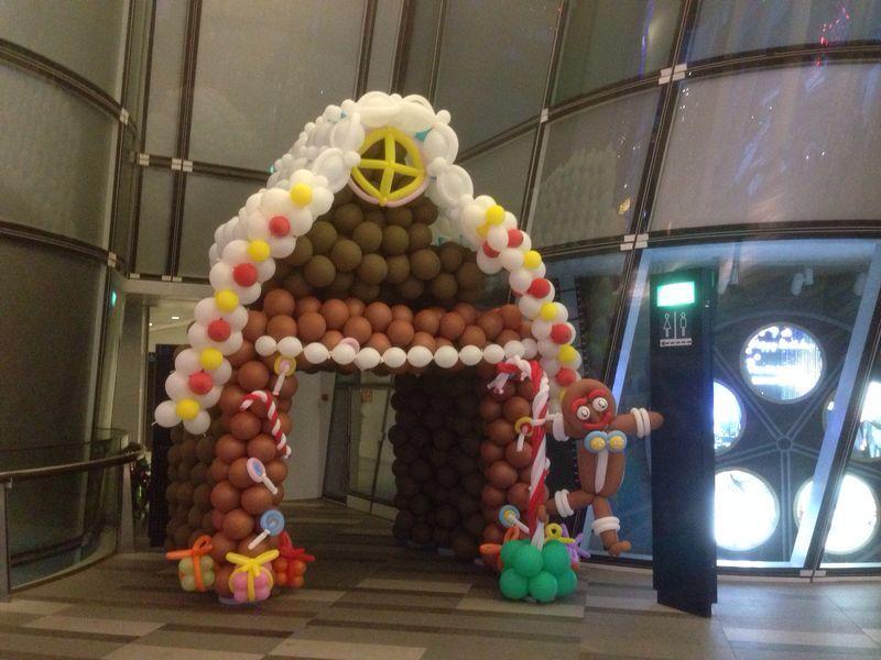 Candy House Balloon Display