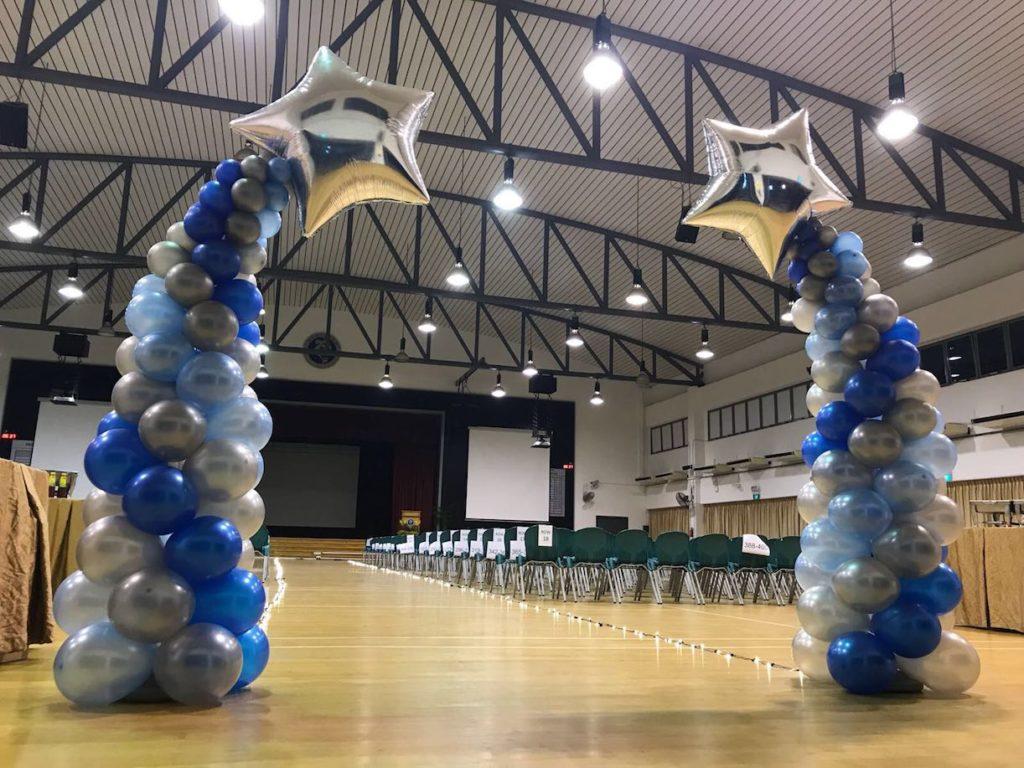 Bending Balloon Star Columns