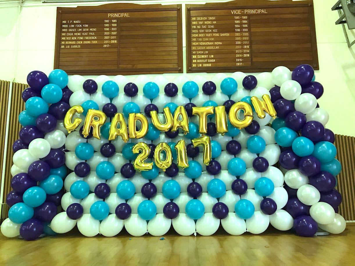 Graduation balloon backdrop decoration that balloons for Balloon decoration graduation