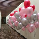 Helium Balloon Boquet Set up