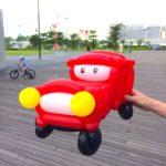 Red Balloon Car Sculpture