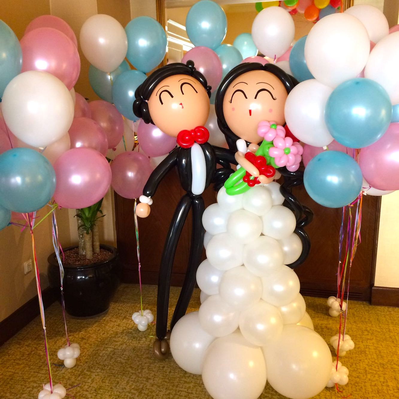 Wedding balloons singapore that balloons for Helium balloon decoration