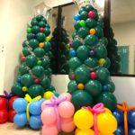 Christmas Balloon Tree Sculpture