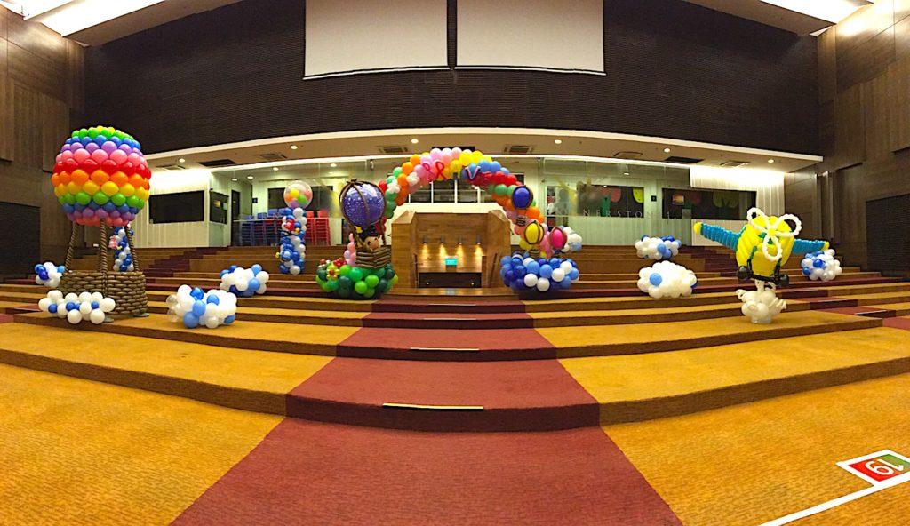 Flight theme balloon decorations