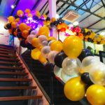 Organic Balloons on Stairs