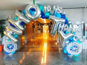 Customised Letters on Balloon Arch