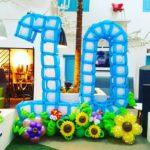 Large Balloon Number Decoration Display
