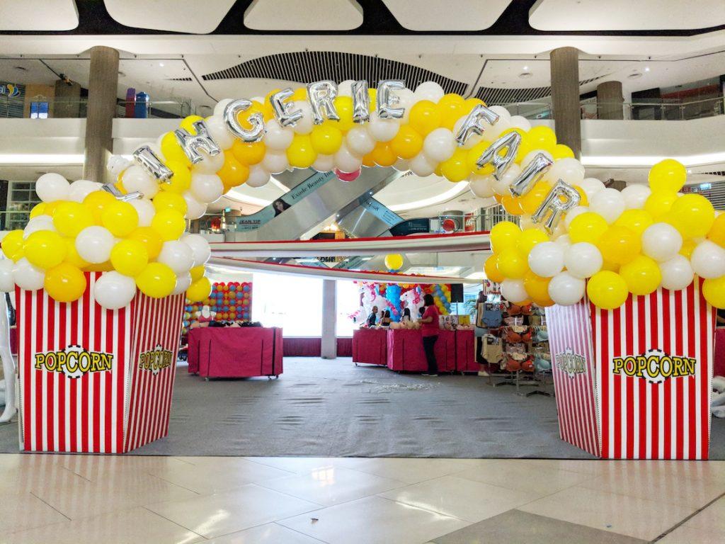 Balloon Popcorn Arch Decoration Singapore