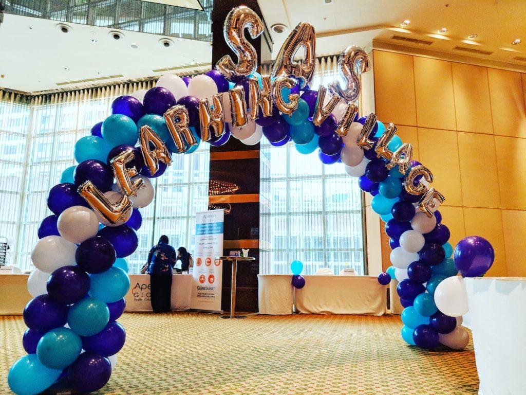 Branding on Balloon Arch