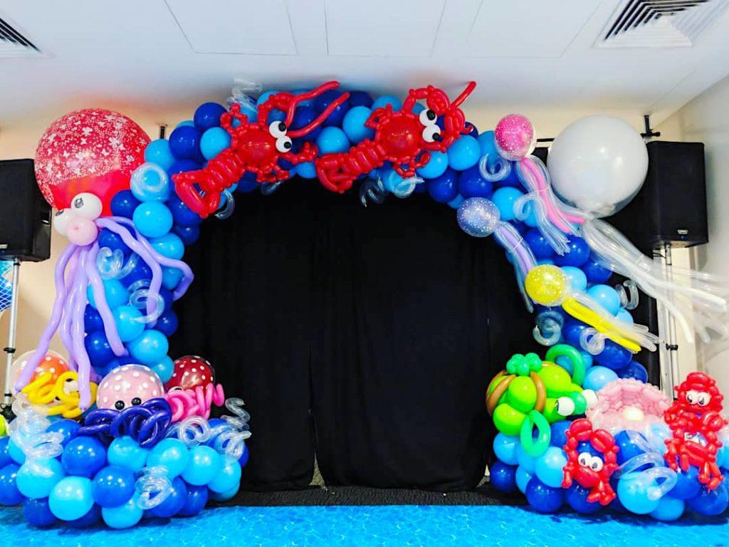 Marine Theme Balloon Arch
