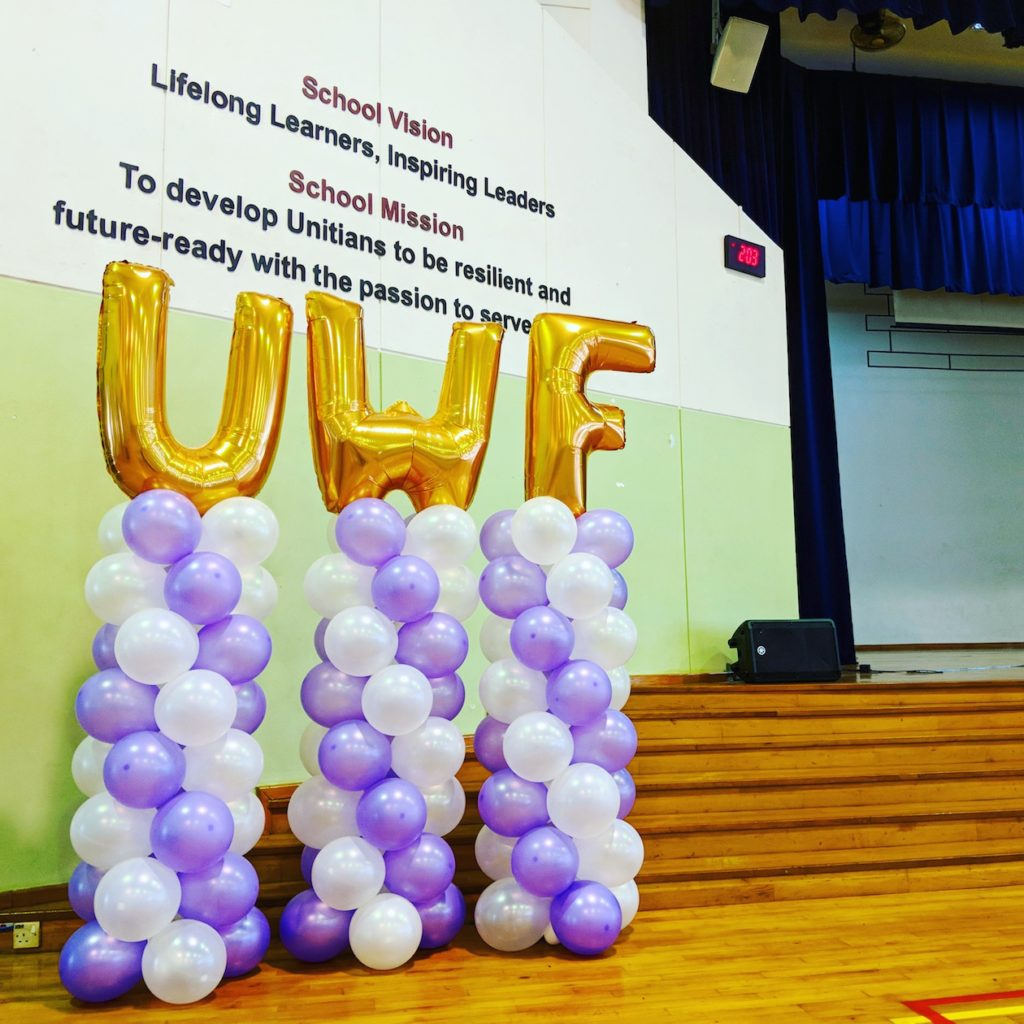 Balloon Columns with Alphabet Letters