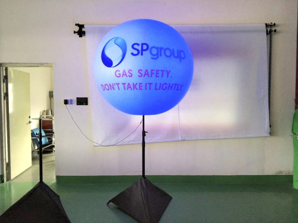 Lighted Advertising balloon stand Singapore