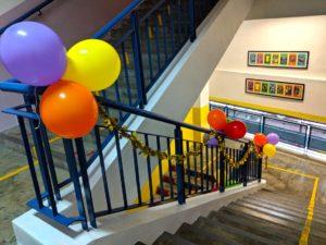 Balloon Decor along stairs