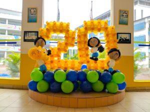 Balloon Number Display Decoration