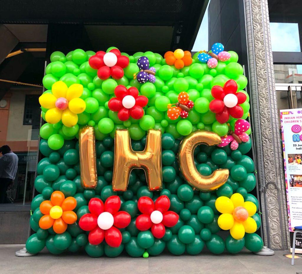 Flower Balloon Backdrop Decoration