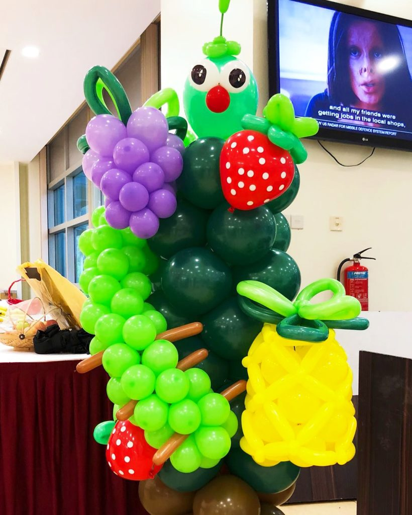 Fruits Balloon Columns