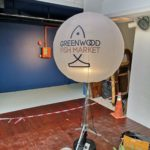 Customised Tripod Balloon with lights