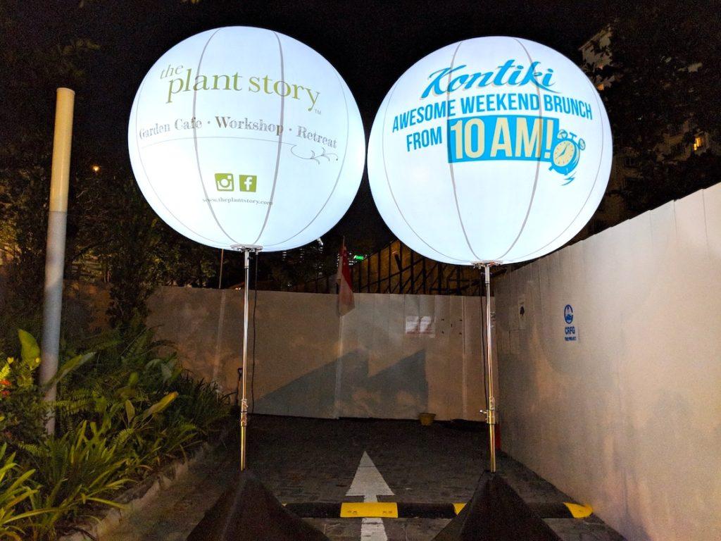 Lighted Balloon Signage Rental SIngapore