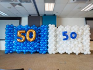 Balloon Backdrop for Intel Anniversary