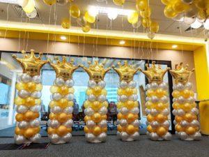 Balloon Crown Columns