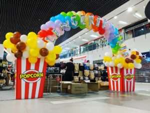 Balloon Popcorn Rainbow Arch Singapore