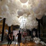 Giant Balloon Cloud Set up