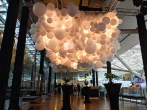 Giant Lighted Balloon Cloud