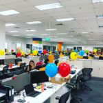 Helium Balloon Decoration for Microsoft